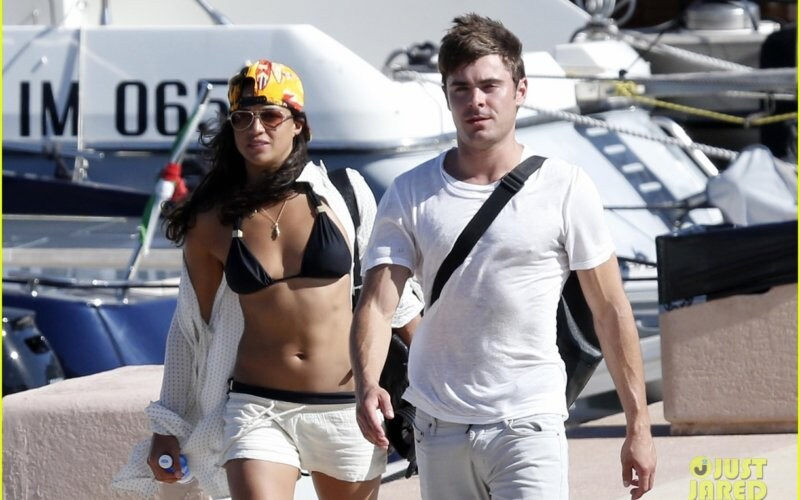 Zac Efron and Michelle Rodriguez are living the good life in Sardinia **USA ONLY**
