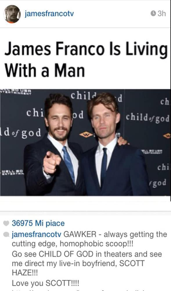 james franco gay coming out instagram