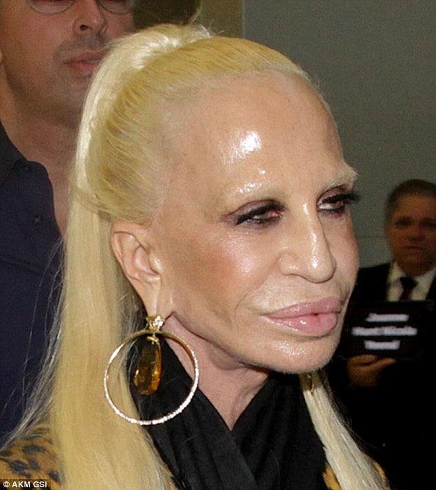 Donatella Versace omg new italia