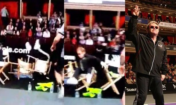 Elton-John falls falling