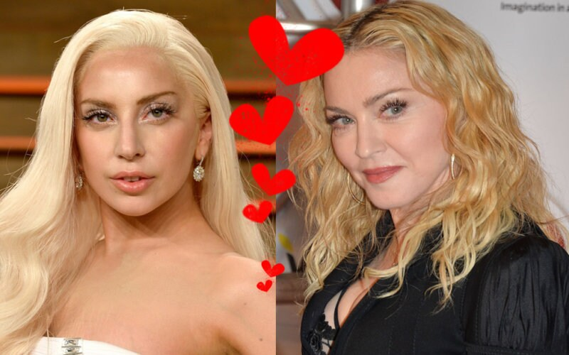 Madonna Lady Gaga hate two steps behind funny