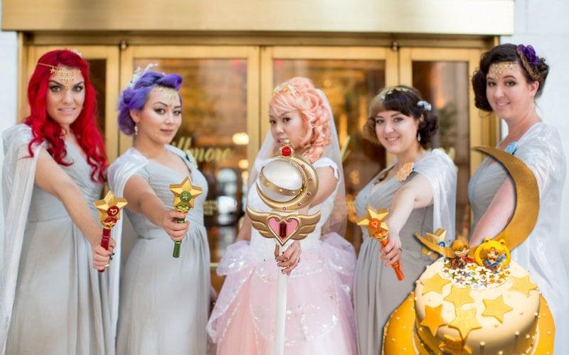 sailor moon wedding michelle