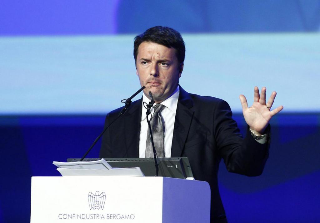 Matteo Renzi all' assemblea di Confindustria Bergamo