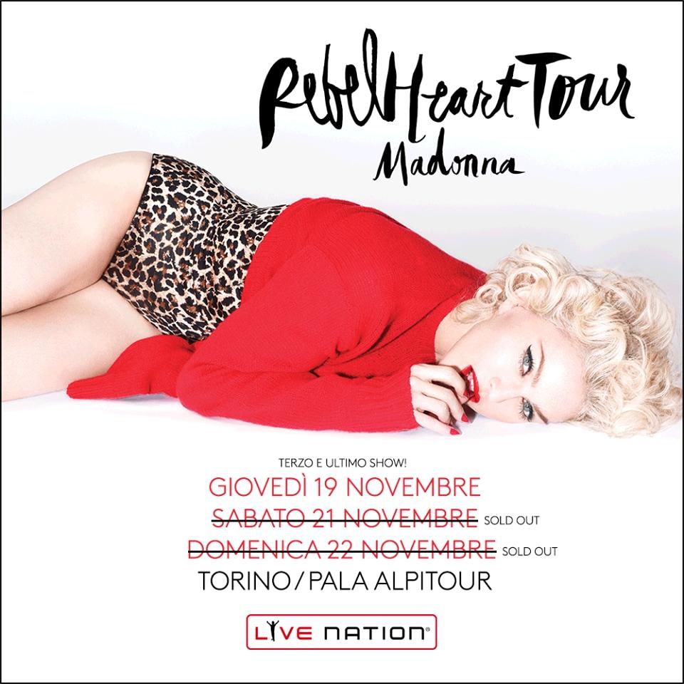 Madonna Rebel Heart Tour Torino