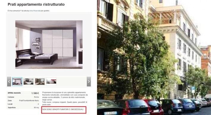 omofobia roma zona prati vaticano foto
