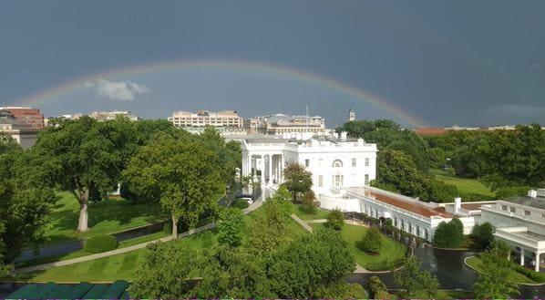 rainbow white house