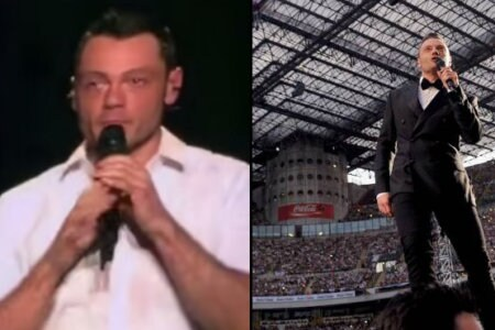 Tiziano Ferro piange san siro milano video