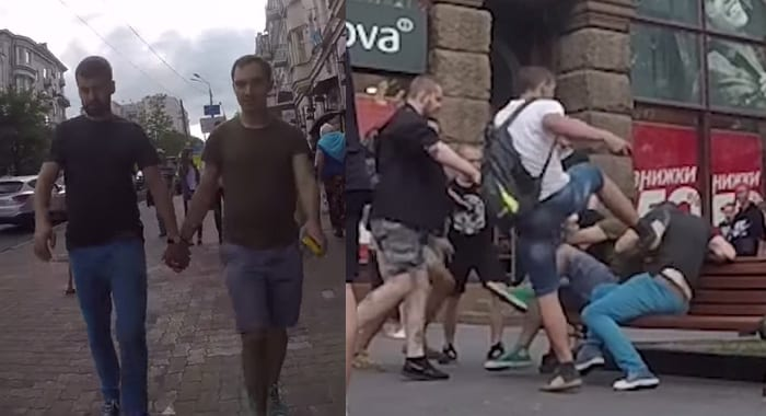 gay beaten omophobia nazi ukraina