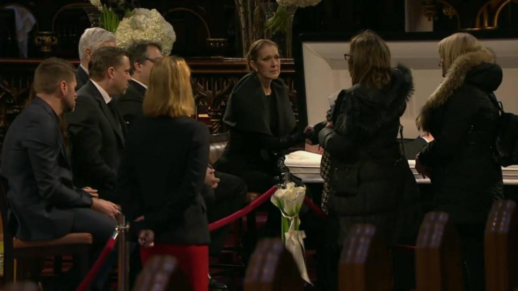 celine dion funerale 2