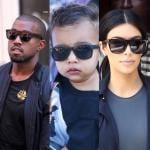 Kim Kardashian Kanye West e North West (1)