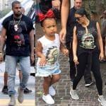 Kim Kardashian Kanye West e North West (2)