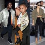 Kim Kardashian Kanye West e North West (3)