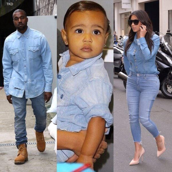 Kim Kardashian Kanye West e North West (4)