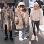 Kim Kardashian Kanye West e North West (5)