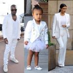 Kim Kardashian Kanye West e North West (7)