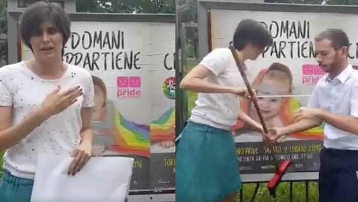 Chiara Appendino torino svastiche gay pride