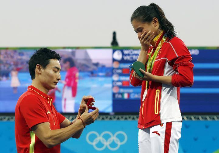 proposta di matrimonio cinese olimpiadi 2