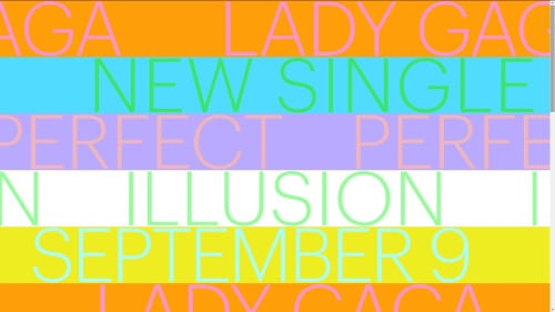 gaga perfect illusion september 9