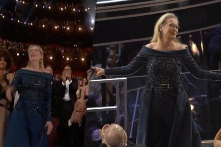 meryl streep standing ovation video