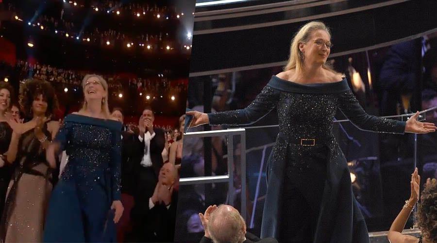 meryl streep standing ovation video