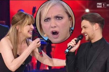 Milly Carlucci Valerio Scanu ed Alessandra Celentano