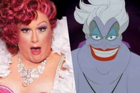 ursula drag queen disney live action video