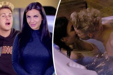 Elettra Lamborghini and Marty McKenna Jacuzzi Geordie Shore 6