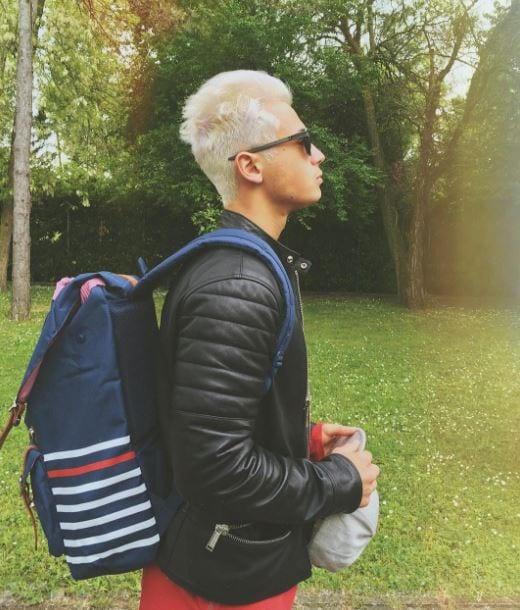 federico rossi nuovo look capelli bianchi