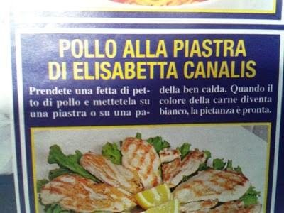 Pollo Alla Piastra di Elisabetta Canalis
