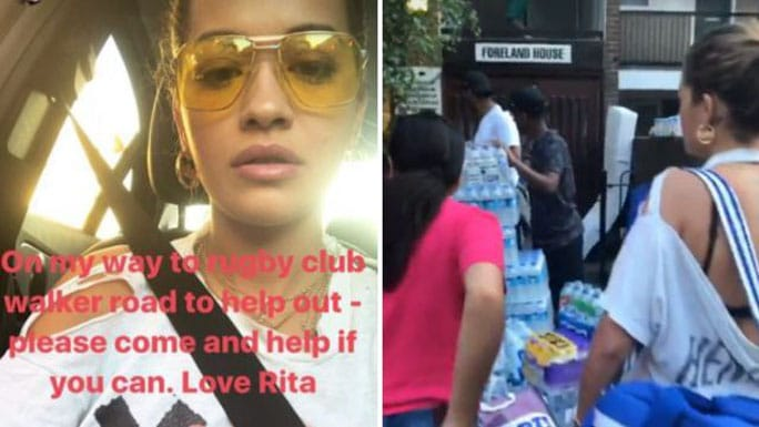 Rita Ora Grenfell Tower