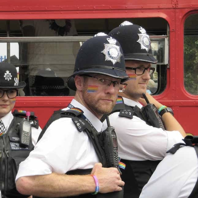 London Pride Police Rainbow 2