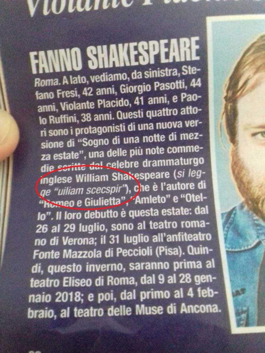 DiPiu Sandro Mayer William Shakespeare