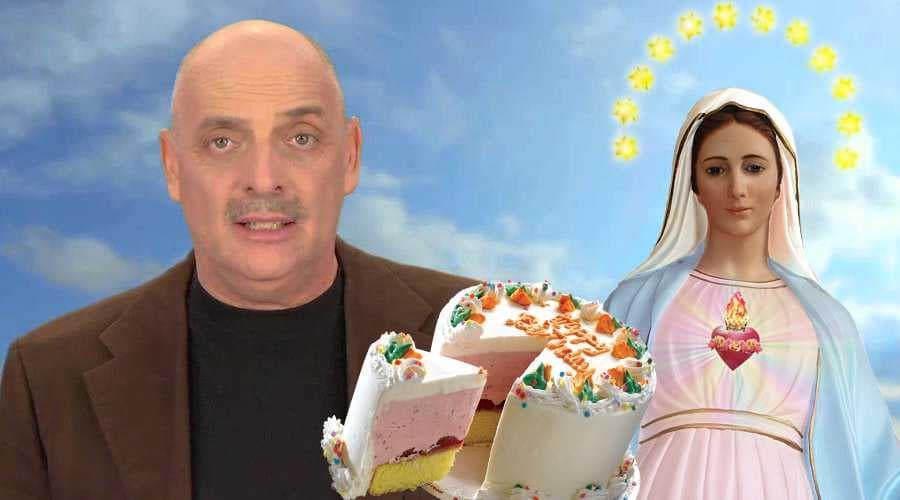 paolo brosio torta madonna video