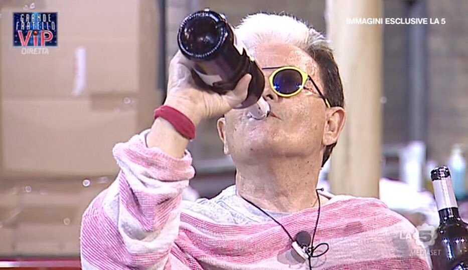 Cristiano Malgioglio Ubriaco GF