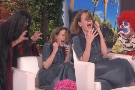 sarah paulson ellen degeneres video clown