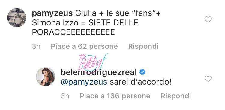 Belen Rodriguez contro Giulia De Lellis (1)