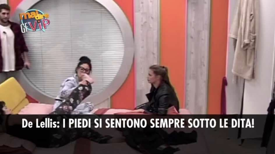 Giulia De Lellis Gialappa's Band Piedi