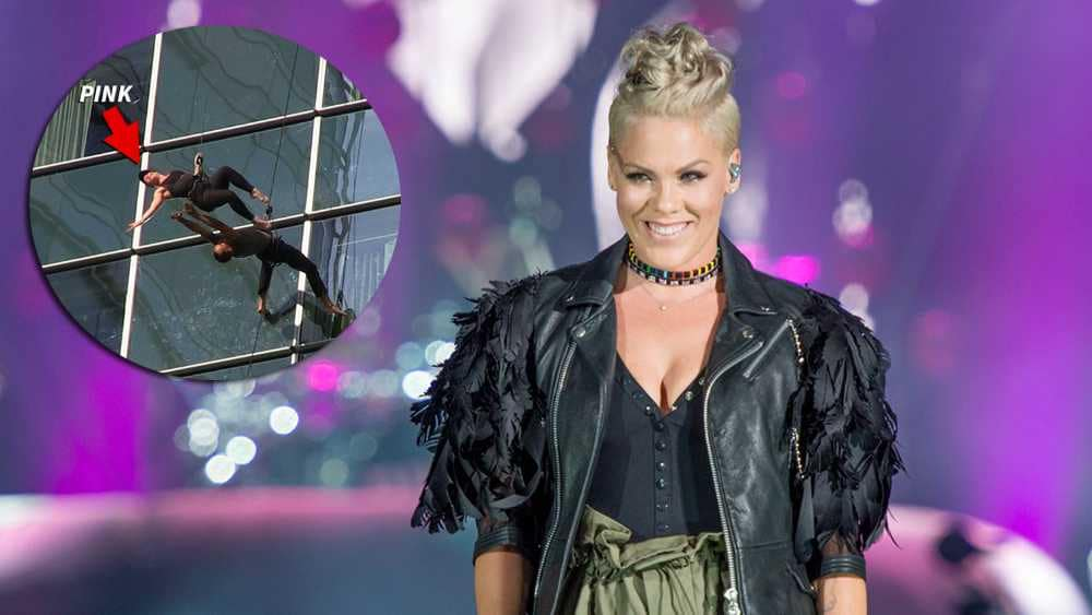 QUEBEC CITY, QC - JULY 08:  Pink performs for the 2nd time after a 4 year break from live shows to headline Day 3 of the Festival D'ete De Quebec (Quebec City Summer Festival) on the Main Stage at the Plaines D' Abraham on July 8, 2017 in Quebec City, Canada.  (Photo by Ollie Millington/Redferns)