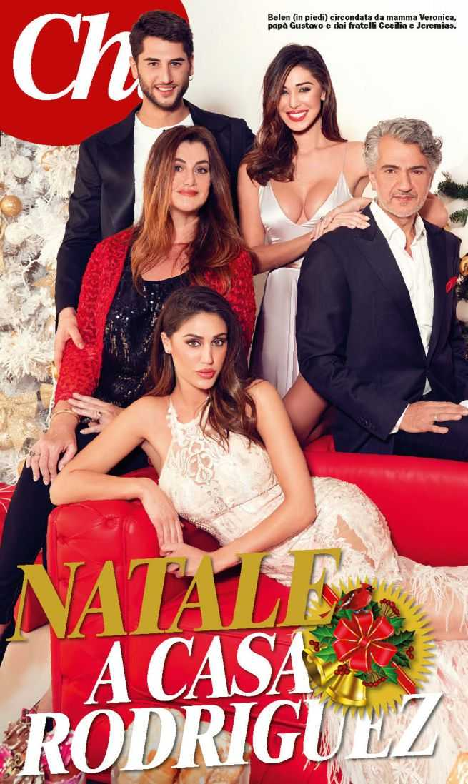 Belen Rodriguez Family Cover Chi Natale