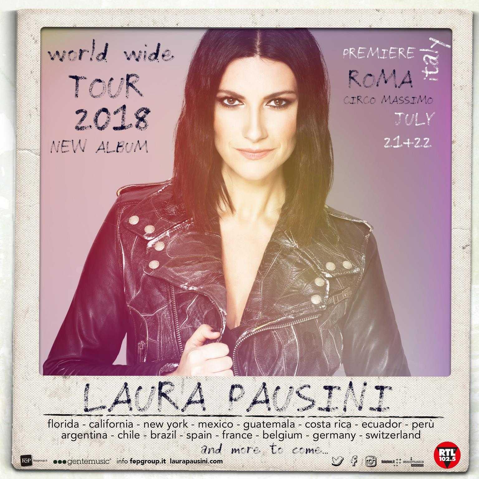 laura pausini new album tour world circo massimo