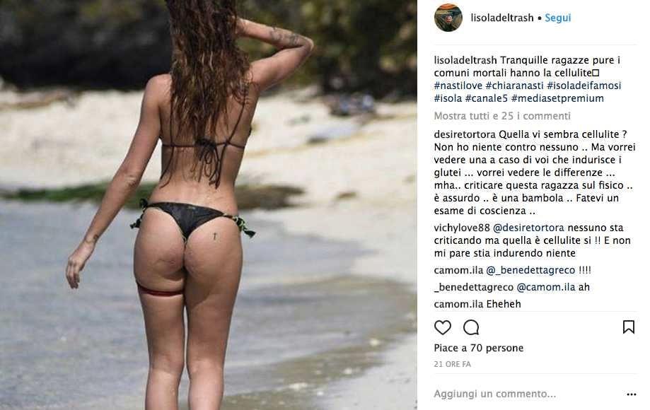 Chiara Nasti Isola dei Famosi Instagram
