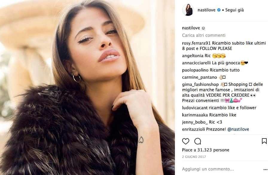 Chiara Nasti Isola dei Famosi Instagram 2