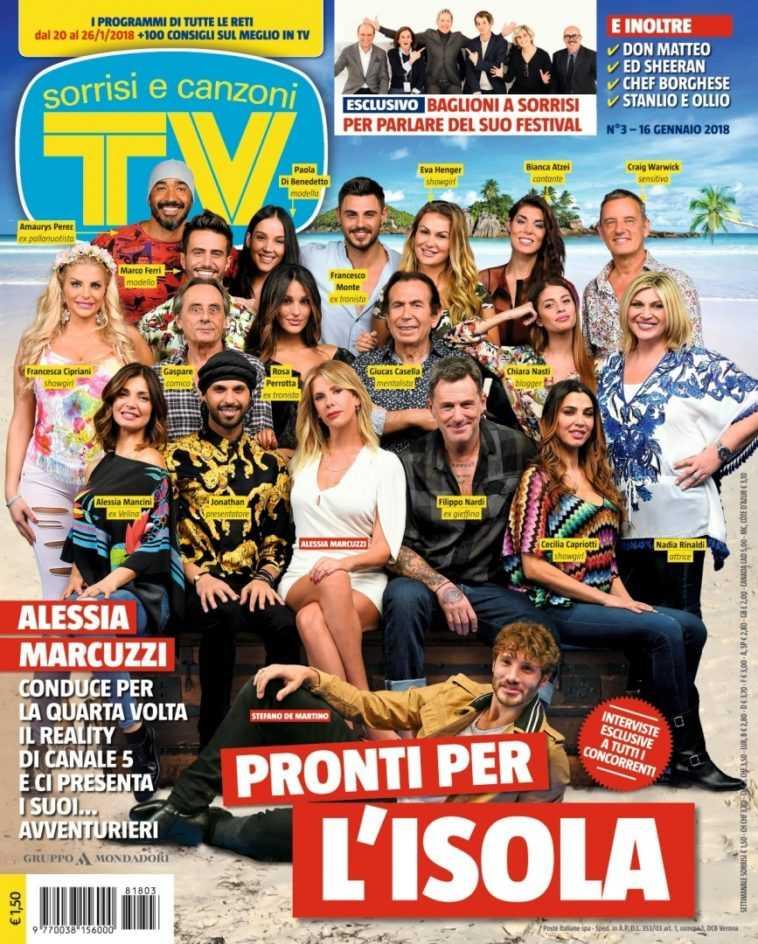 Isola dei Famosi 2018 Tv Sorrisi e Canzoni Cast
