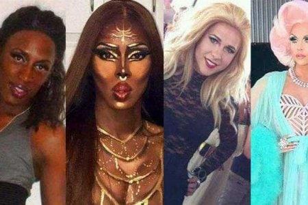drag queen make up prima e dopo