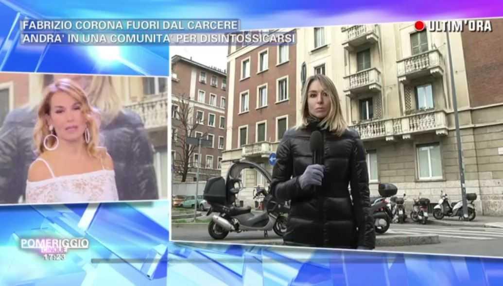 Fabrizio Corona Marta Pomeriggio 5