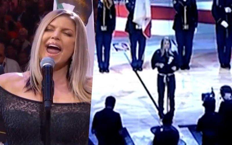 fergie national anthem inno americano