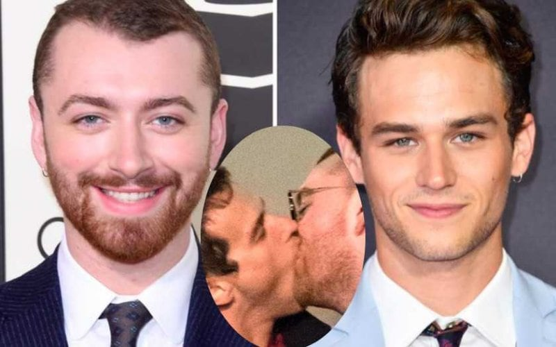 sam smith brandon flynn kissing gay kiss video
