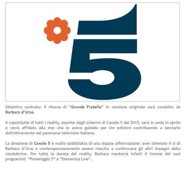 Comunicato Stampa Mediaset