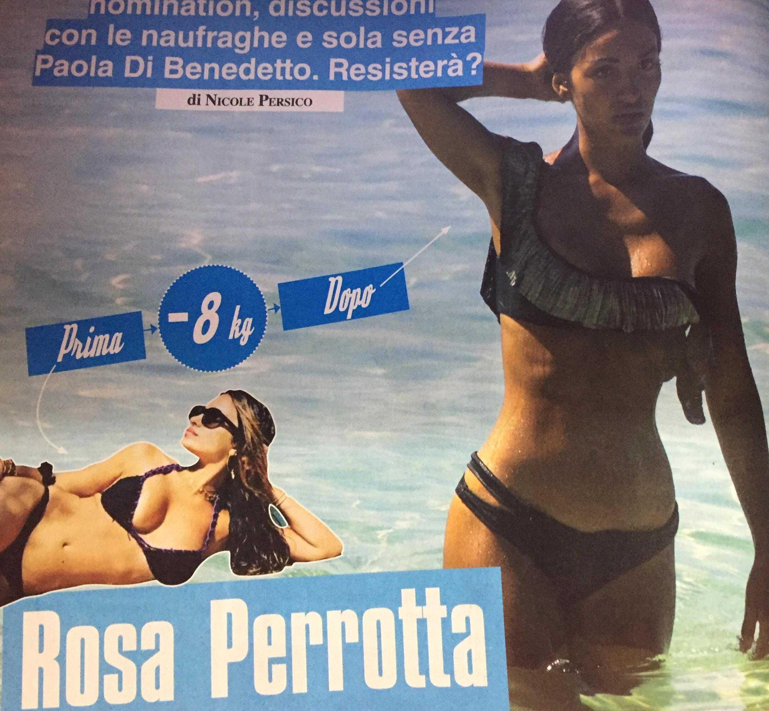 Rosa Perrotta dimagrita isola dei famosi