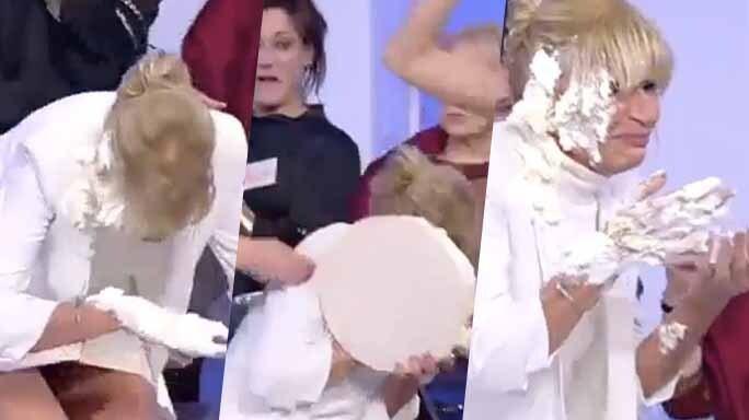 gemma galgani torta in faccia